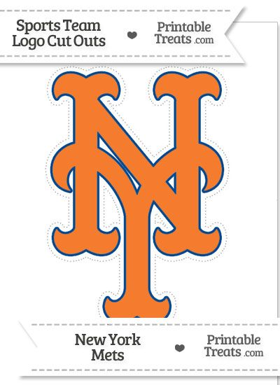 large new york mets logo cut out from printabletreatscom