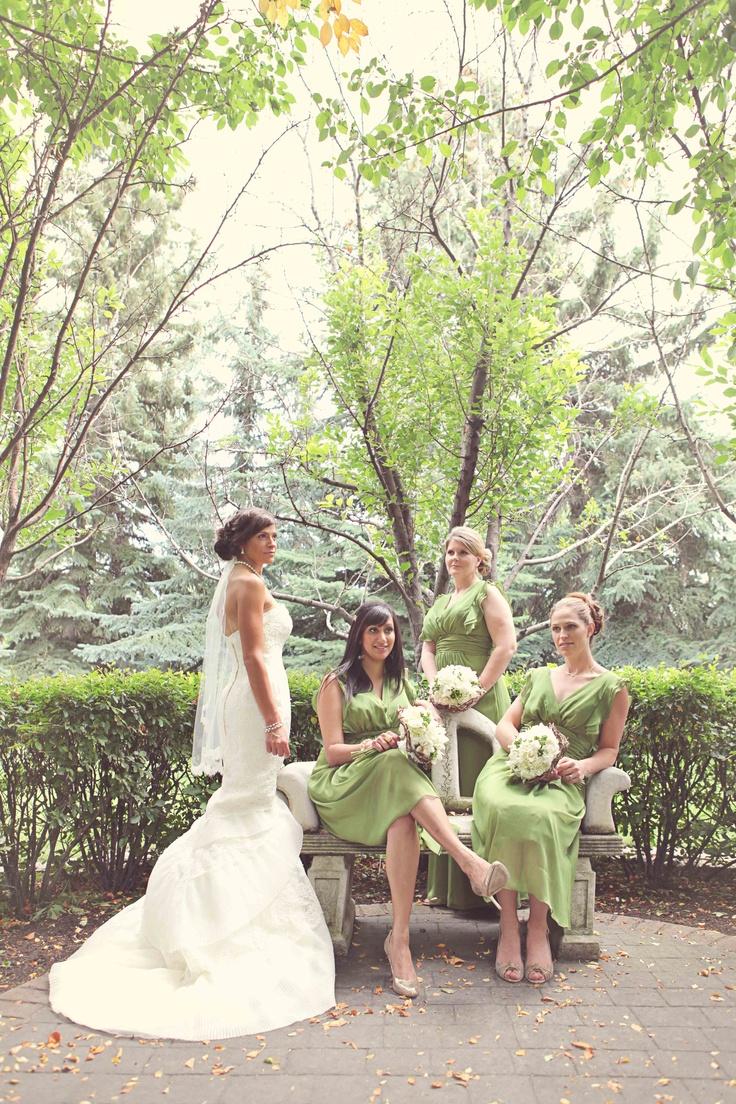 14 best bridesmaid dresses images on pinterest bridesmaids the bride with her bridesmaids dressed in celery green photo credit white dress ombrellifo Choice Image