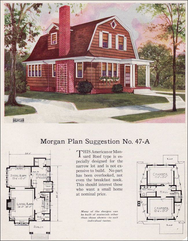 1923 morgan sash door 47a palisades design ideas for Small gambrel house plans