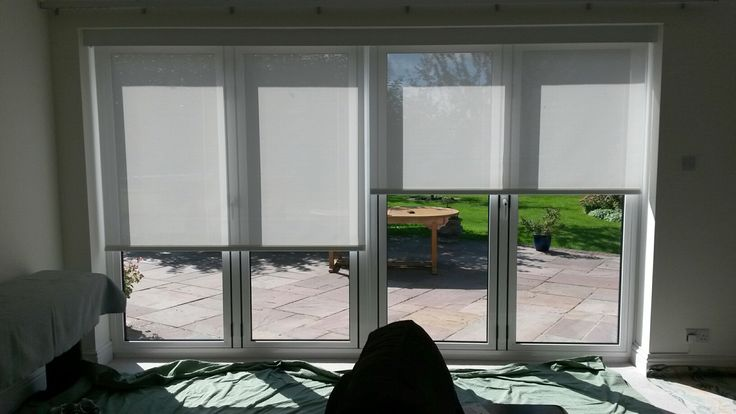Operate each electric blind individually or all blinds together with the remote control by Deans Blinds And Awnings