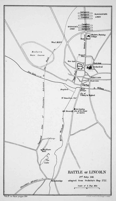 Map Battle of Lincoln