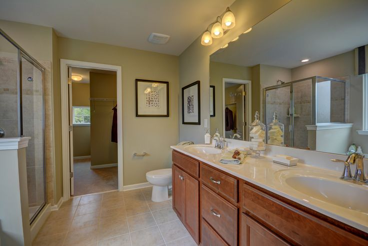 Dual sinks in the master bath. Fairfield New Home Plan in Kinmere Farms   Enclave   North