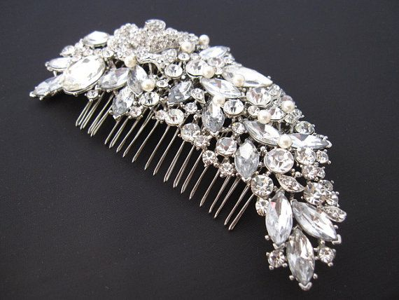 Hey, I found this really awesome Etsy listing at https://www.etsy.com/listing/153028780/bridal-hair-combwedding-comb-hair