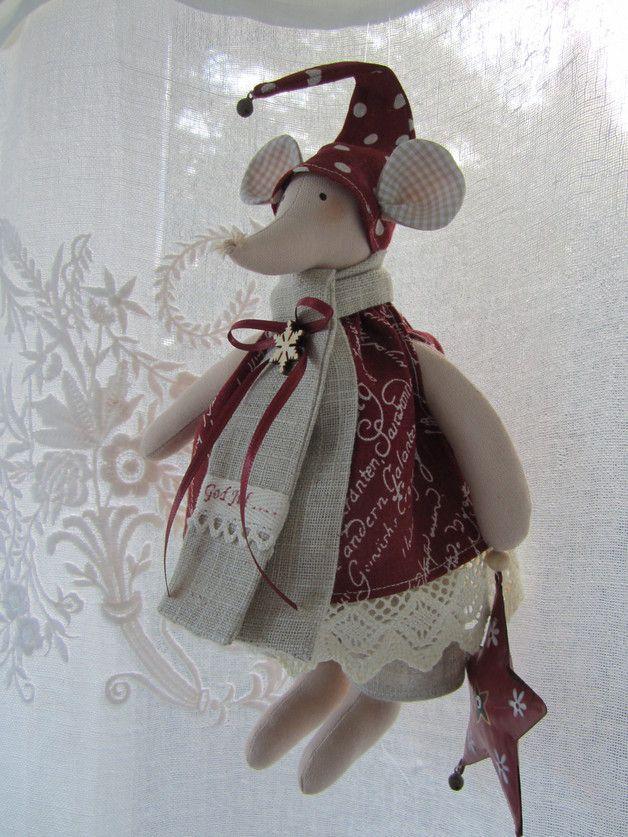 Girlanden & Wimpelketten - Weihnachts - Mäuschen im Landhaus-Stil - ein Designerstück von Feinerlei bei DaWanda