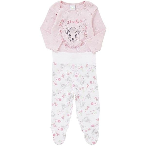 Disney Bambi Long Sleeve Bodysuit and Enclosed Feet Leggings Set (£3) ❤ liked on Polyvore featuring intimates, sleepwear, pajamas, long sleeve pyjamas, long sleeve body suit, long sleeve pajamas, long sleeve bodysuit and long sleeve sleepwear