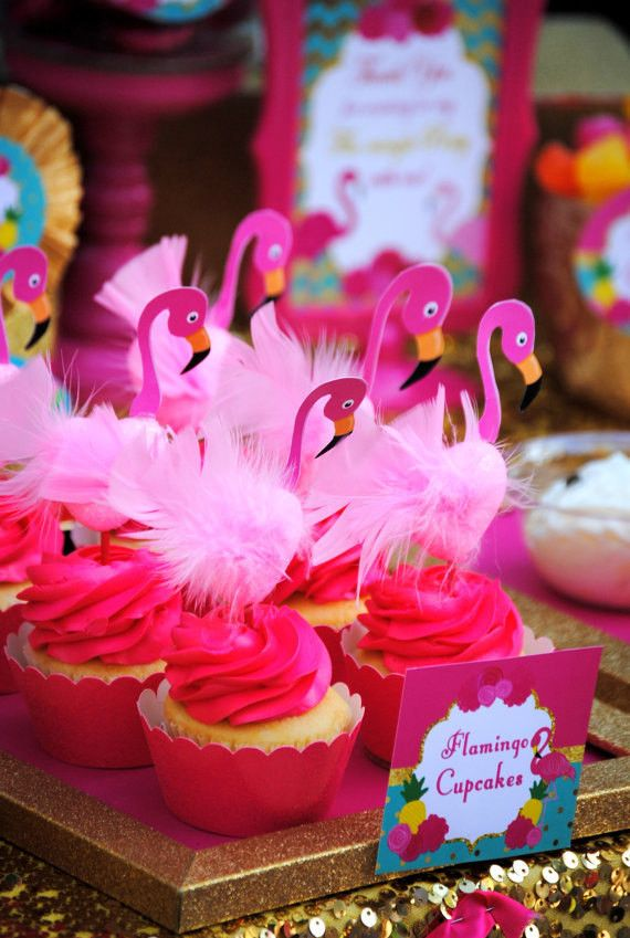 FLAMINGO Party - PINK FLAMINGO DECORATIONS - FLAMINGOS - Flamingo Birthday - Luau Party