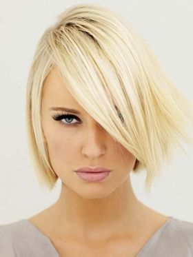 Blonde - Glam Bob Hair Styles Ideas...I've been thinking about going blonde but think my dark brows might not work well...she sure pulls it off just fine!