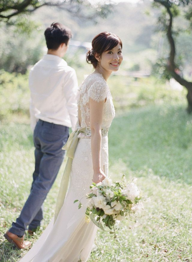 Congratulations to beautiful real bride Iris who wore the Claire Pettibone 'Beauty' wedding dress http://couture.clairepettibone.com/collections/continuing-collection/products/beauty