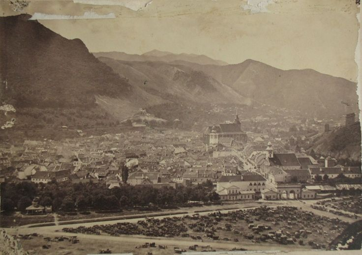 Unknown - Brasov (at that time part of the Austro-Hungarian Empire) panorama at 1867