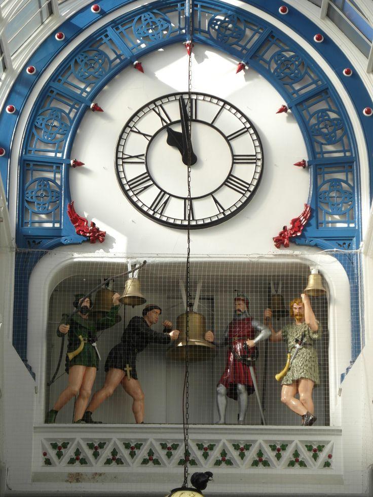Robin Hood Mechanical Clock - Victorian Gothic Thornton's Arcade - Leeds - West Yorkshire - England