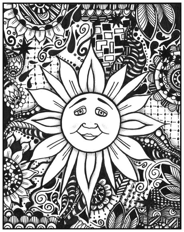 Kresba gelovym perom, Slnko