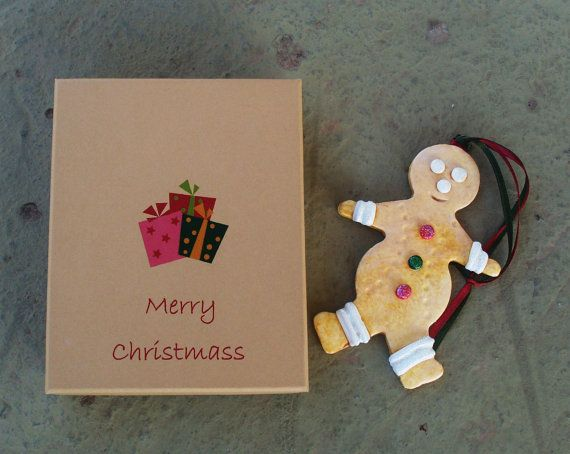 GINGERBREAD  Ceramic Ornament by allabouthandicraft on Etsy