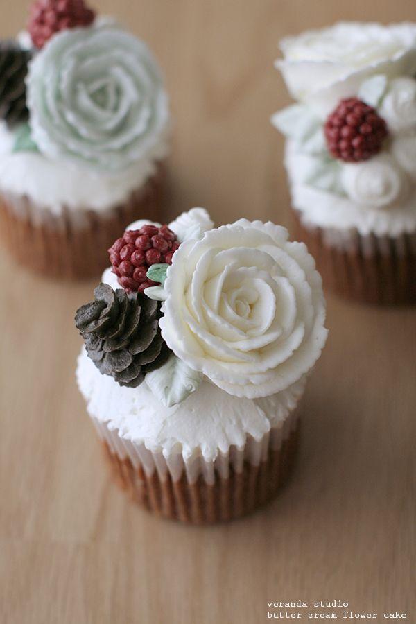 크리스마스 케이크~ 버터크림 플라워 컵케이크~ : 네이버 블로그