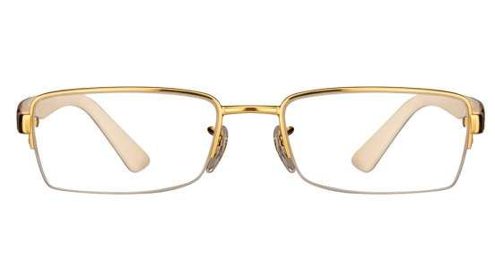Ray-Ban RX6306 Size:52 Golden Cream Tortoise 2500 Eyeglasses
