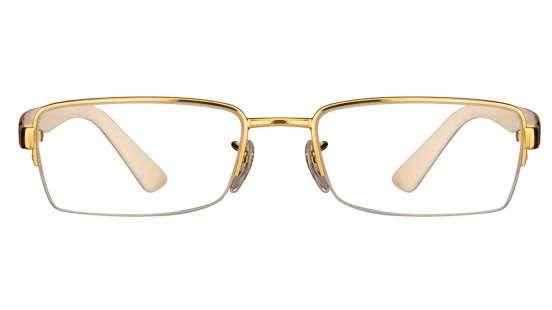 Ray-Ban RX6306 Size:52 Golden Cream Tortoise 2500 Eyeglasses
