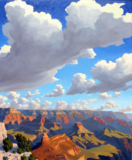 Dawn In Majesty by New Mexican artist, Doug West.