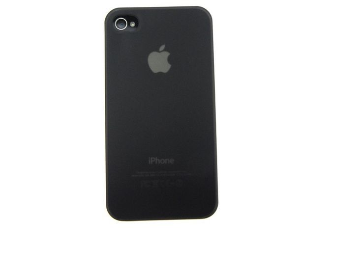 Ultra dunne premium Backcover Case iPhone 4 & 4S Zwart