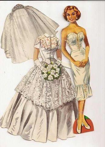 todorecortables sueÑos de papel: recortables de novias | paper dolls