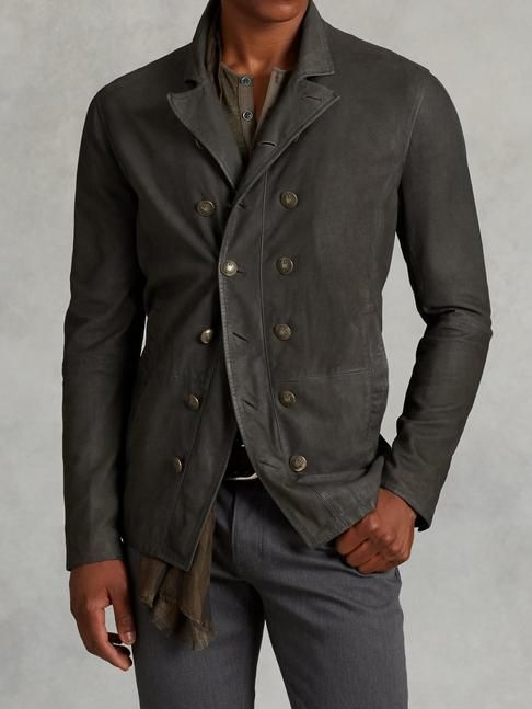 Suede Cut Away Jacket - John Varvatos