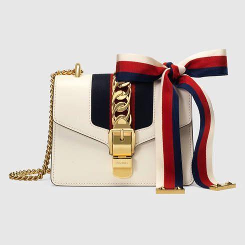 GUCCI Sylvie Leather Mini Chain Bag.
