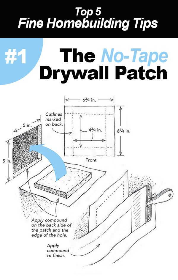 Top 5 Tips Techniques How To Patch Drywall Building A House