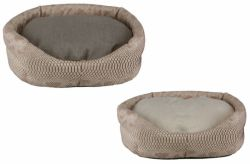 Eh Gia Oval Bed Snake Leather Brown/Beige ( verkrijgbaar in 7 maten )