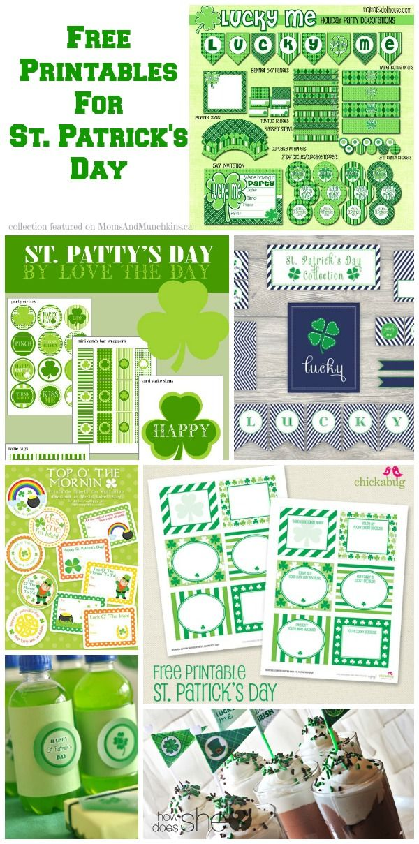 Free St. Patrick's Day Printables - Moms & Munchkins