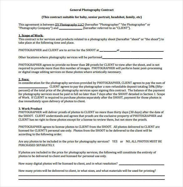Best 25+ Photography contract ideas on Pinterest Photography - sample contractor agreement