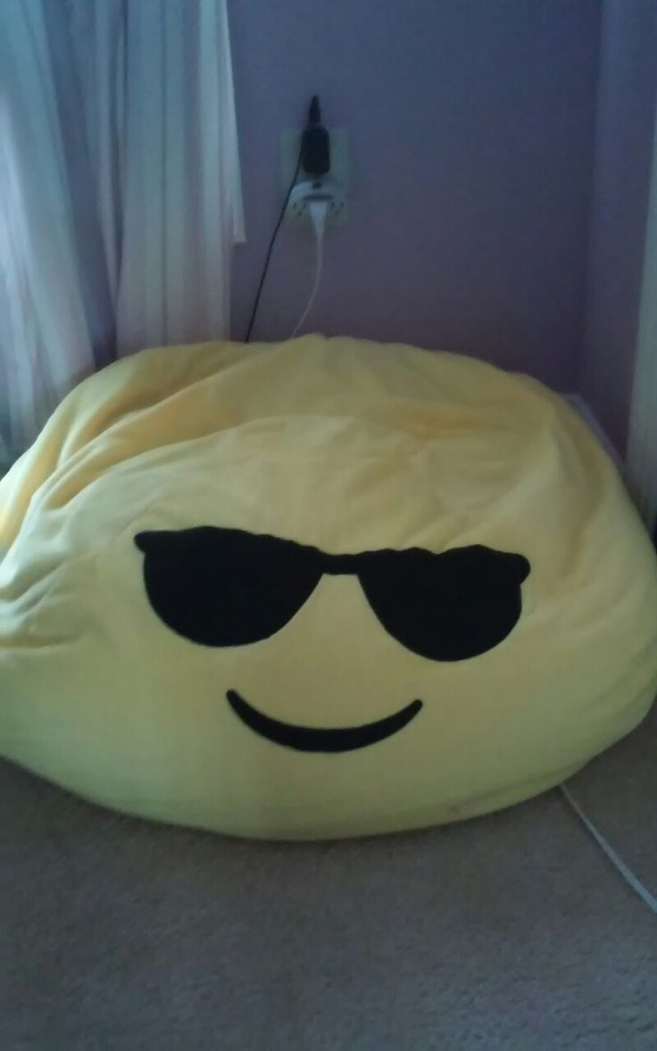 Perfect for kids rooms they come in all different emojis best bean bag chair ever at walmart $21.14
