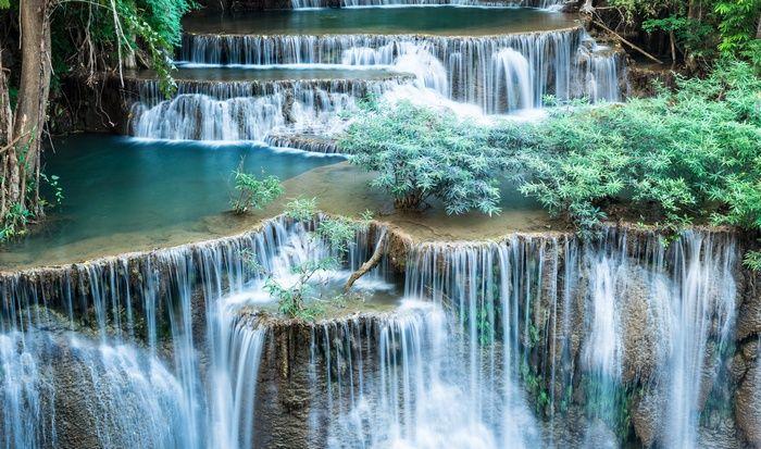 Waterfall Landscape Nature Wallpaper Waterfall Scenery Waterfall Wallpaper Scenery Wallpaper