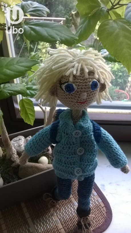 crochet boy doll