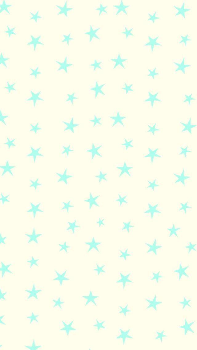 Mint ditsy sketch stars iphone wallpaper phone background lock screen