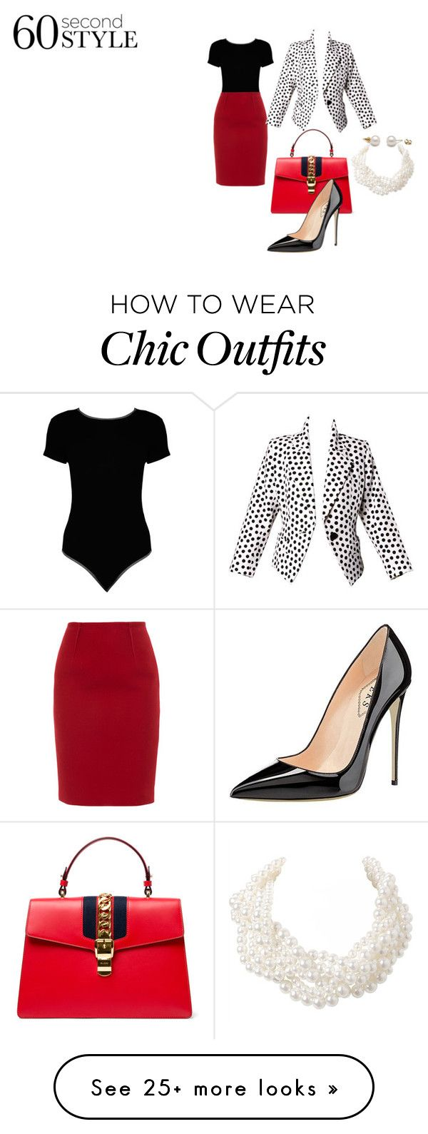 """""""Look the part"""" by nadia-n-pow on Polyvore featuring Boohoo, Paule Ka, Gucci, Yves Saint Laurent, Humble Chic, jobinterview and 60secondstyle"""