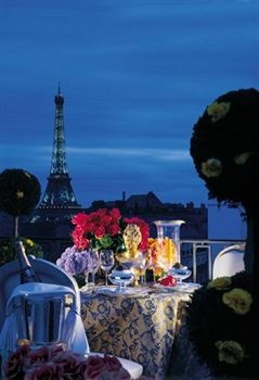 View of the Eiffel Tower from the Four Seasons Hotel George V Paris