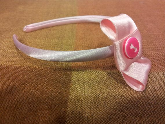 Pink headband by Zampithings on Etsy / Diadema rosa