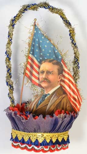 Teddy Roosevelt on Early Patriotic Nut-Cup DR7S231 would be great to do for Presidents Day  -Kathy H