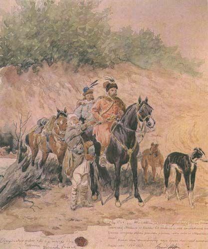 Hunting - Juliusz Kossak