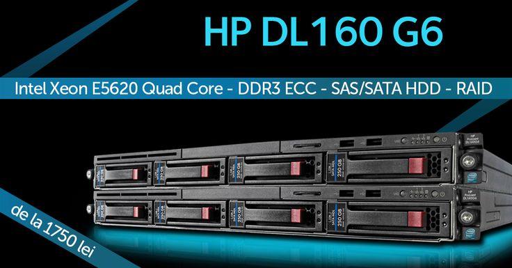 Stoc Nou Servere HP Dl160 G6 http://www.interlink.ro/hp-proliant-dl160-g6-2x-intel-xeon-e5620-quad-core-2-4ghz-8gb-ddr3-ecc-cd-rom-raid-p12102.html