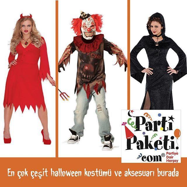 Cadılar Bayramı Kostümleri için www.partipaketi.com ve PartiPaketi mağazalarını ziyaret edin. #halloween #halloween2015 #halloweenpartisi #cadılarbayramı #partimalzemeleri #kostüm #vampir #cadı #hayalet #iskelet #kurukafa #korkupartisi #zombi #ölügelin #yaratık #partimağazası #şeytan #halloweencostume #halloweenkostümleri #halloweenkostumleri #halloweenparti #cadılarbayramıkostümleri #cadıkostümü #iskeletkostümü #hayaletkostümü #partipaketi