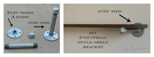 Perfect DIY Industrial Style Shelf