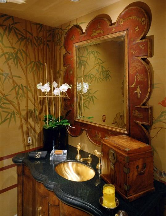 Interior Design, Contemporary Asian, Palm Desert, CA  Donna Livingston  Design · Asian BathroomVanity ...