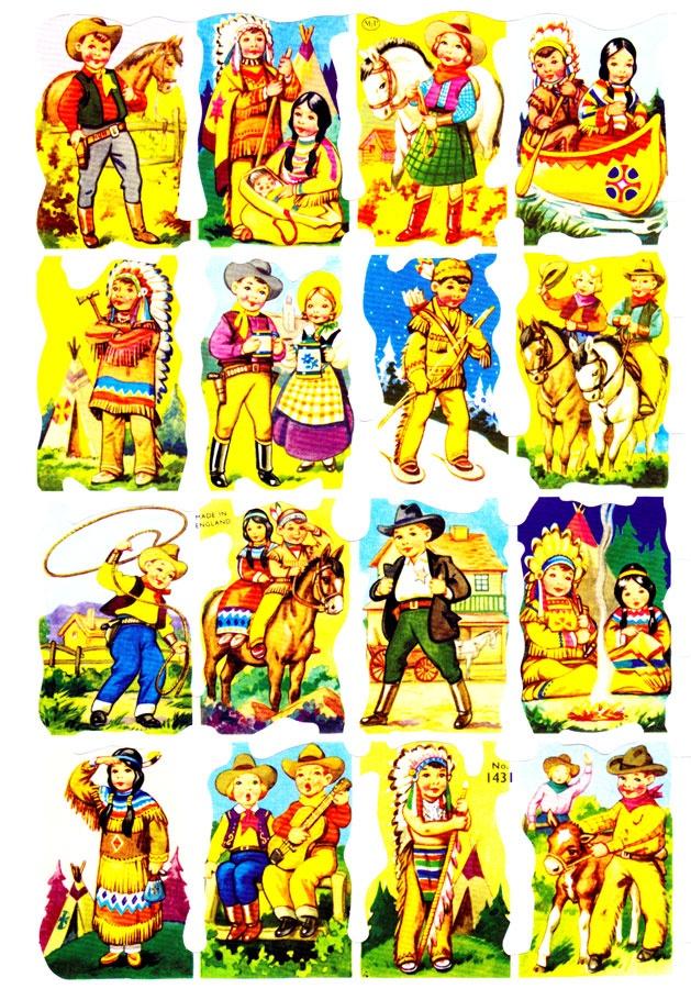 Cowboy and Indian Paper Scraps