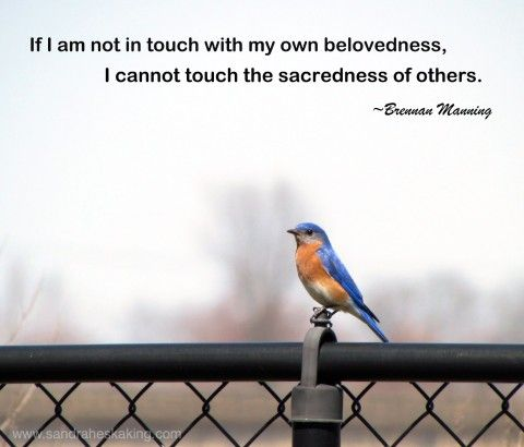 If I am not in touch with my own belovedness, I cannot touch the sacredness of others. ~Brennan Manning