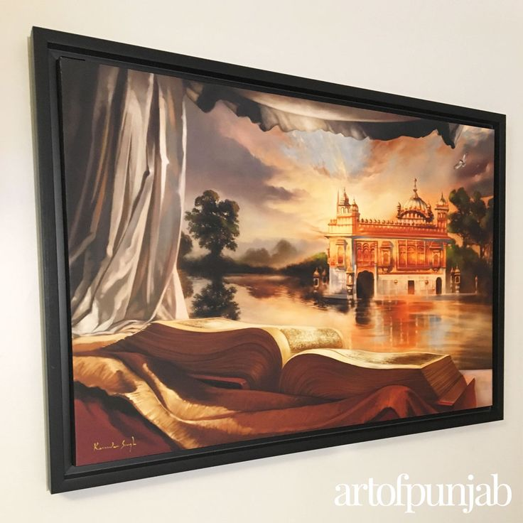 The Abode of Nanak paintings by Kanwar Singh.  Premium Canvas prints hand-signed by the artist as part of a limited edition series.  All canvas prints available at artofpunjab.com/shop starting at $325 CAD. Fine art prints also available starting at $70 CAD