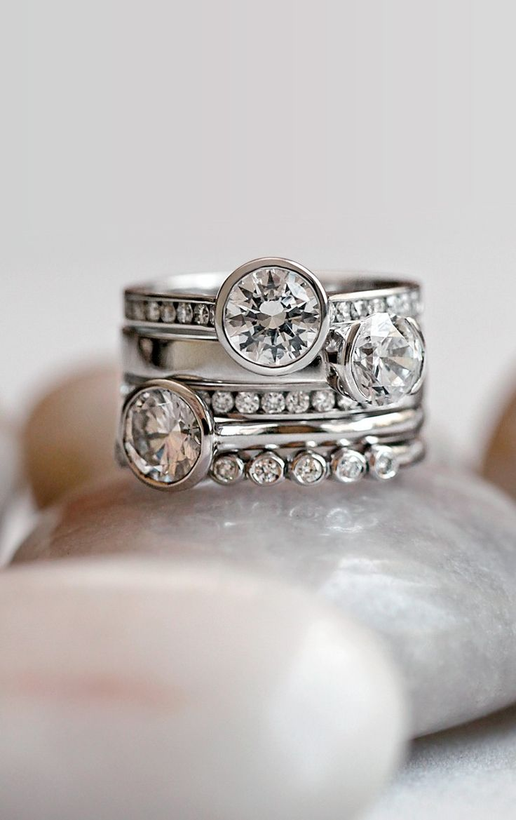 Diamond stacking rings | jewelry design