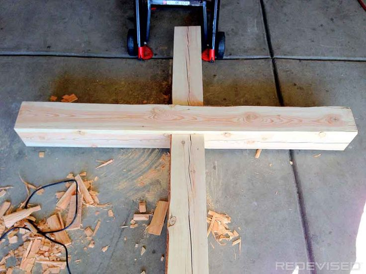 Building a wooden cross.                                                       …