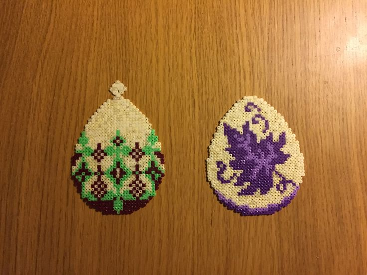 Hama beads Easter eggs by Kirppinen