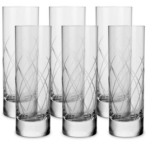 Copo Vodka Cristal Blumenau 6 Peças Lapidação Verona