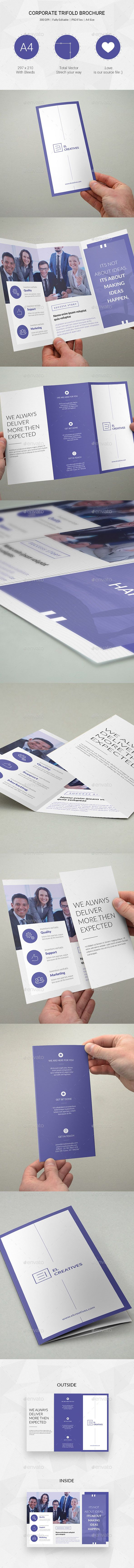 Corporate Trifold Brochure Template #design Download: http://graphicriver.net/item/corporate-trifold-brochure-19/13184179?ref=ksioks