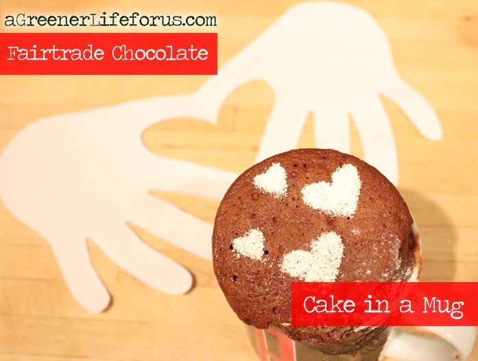 Fairtrade chocolate cake in a mug - really easy for the kids to make themselves... just follow instructions! @Divine Chocolate USA